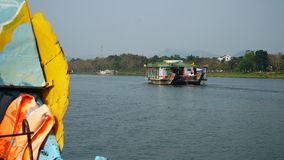 Cruises on Huong River in Hue to Thien Mu Pagoda. Type of popular boat for tourists in Hue to visit stock image