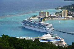 Cruises at Ocho Rios, Jamaica Royalty Free Stock Images