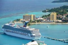 Cruises at Ocho Rios, Jamaica Royalty Free Stock Images