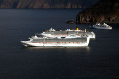 Cruises in santorini Royalty Free Stock Image