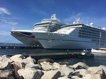 Cruiseschepen in Grenada Stock Afbeeldingen