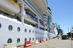 Cruiseschip. Stock Foto
