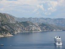Cruiseschip in Adriatic Royalty-vrije Stock Foto