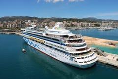 Cruiseschip AidaAura Stock Fotografie