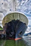 Cruiseschip bij dok Royalty-vrije Stock Foto's