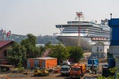 Cruiseschip Diamond Princess Stock Afbeeldingen