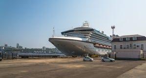 Cruiseschip Diamond Princess Stock Afbeelding