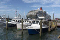 Cruiseschip naast Haven Canaveral Florida de V.S. stock afbeelding