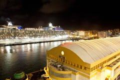 Cruiseschip in San Juan royalty-vrije stock foto