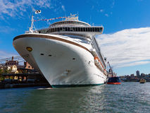 Cruiseschip, Sydney Harbour, Australië Stock Foto's
