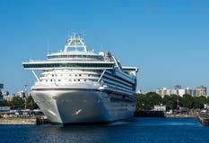 Cruiseschip in Victoria Stock Foto
