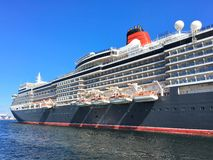 Cruiseship在斯塔万格 库存照片