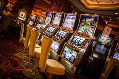 Cruiseship的赌博娱乐场 库存照片