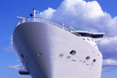 Cruiseship. A big cruise liner docked in a port Stock Photography