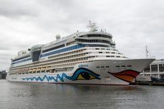 Cruiseship AIDAdiva. At a pier at west Manhattan, New York City, USA royalty free stock photos