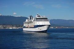 Cruiseship che lascia Vancouver Fotografie Stock Libere da Diritti