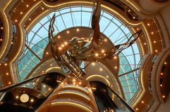 cruiseship de plafond Photo libre de droits