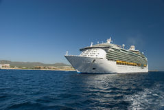 Cruiseship docked in Cabo San Lucas, Mexico. Royalty Free Stock Images
