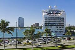 Cruiseship docked in Puerto Vallarta Stock Photos