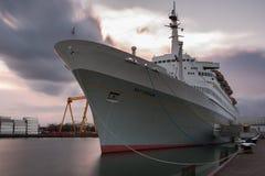 Cruiseship Rotterdam Arkivfoto