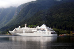 Cruiseship at Ulvik Stock Photo