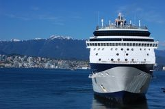 Cruiseship in Vancouver Royalty Free Stock Photography