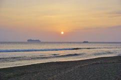 Cruiseship w zmierzchu w Hawaje Fotografia Stock