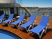 cruiseshipdäck Royaltyfri Bild