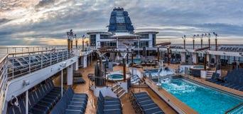 CruiseShipPanorama 库存照片