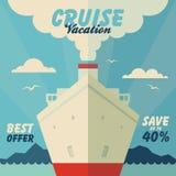Cruisevakantie en reisillustratie Stock Foto