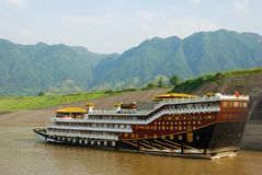 Cruisevoeringen bij Yangtze-rivier in China royalty-vrije stock foto's