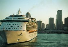 Cruising. Cruise ship in Miami Harbor royalty free stock images