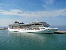 Cruising. A cruise liner at the port of Civitavecchia - near to Rome, Italy, Europe Royalty Free Stock Image