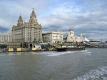 Cruising. On the ferry at Liverpool Merseyside stock photo