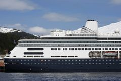 Cruising in Alaska. The cruise liner just arrived in Ketchikan, Alaska stock photo