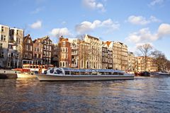 Cruising in Amsterdam citycenter in the Netherland Royalty Free Stock Images