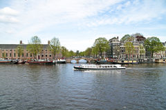 Cruising in Amsterdam the Netherlands Royalty Free Stock Images