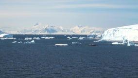 Cruising in Antarctica - Fairytale landscape stock footage