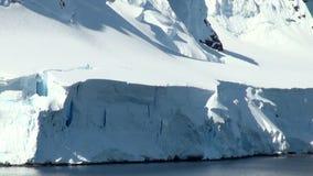 Cruising in Antarctica - Fairytale landscape stock video footage