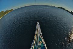 Cruising around the globe Stock Photo