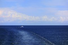 Cruising the Baltic Sea. With dramatic sky royalty free stock photos