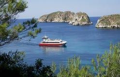 Cruising boat Stock Photo