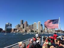 Boat Cruise on Boston Harbour royalty free stock image