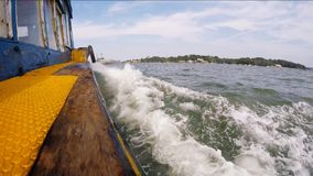 Cruising Bumboat stock video footage