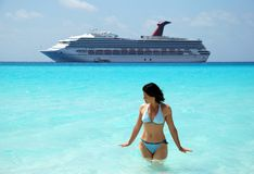 Cruising In Caribbean Royalty Free Stock Image