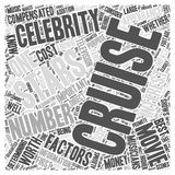Cruising With a Celebrity Are Celebrity Cruises Worth the Money word cloud concept word cloud concept vector background Royalty Free Stock Photography