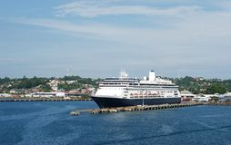 Cruising in Costa Rica. The cruise liner in Limon port, Costa Rica Stock Photography
