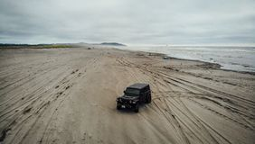 Offroading at Long Beach stock images