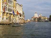 Cruising down the Grand Canal in Venice Stock Images