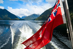 Cruising at Fiordland Stock Photography